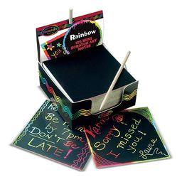 Melissa & Doug Scratch Art Rainbow Mini Notes (125 ct) With Wooden Stylus | Walmart (US)