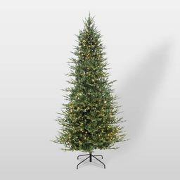 9ft Pre-Lit Full Berkshire Fir Artificial Christmas Tree - Puleo | Target