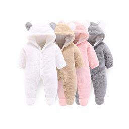 Baby Boy / Girl 3D Bear Design Winter Hooded Jumpsuit   Walmart (US)