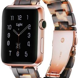 Light Apple Watch Band - Fashion Resin Comfortable iWatch Band Bracelet Compatible with Copper St...   Amazon (US)