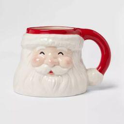 15oz Stoneware Santa Christmas Mug - Threshold™   Target