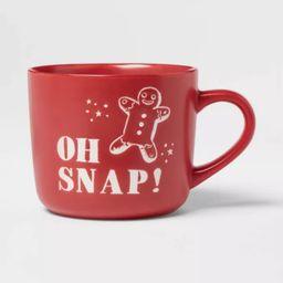 16oz Stoneware Oh Snap! Christmas Mug Red - Threshold™   Target