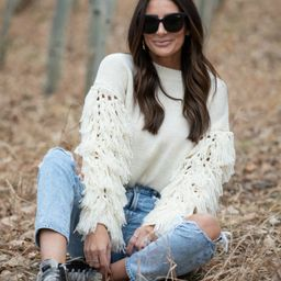 Remember The Moment Fringe Sweater-2 colors   Apricot Lane Boutique
