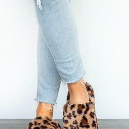 Sleeping In Leopard Fuzzy Slippers   Apricot Lane Boutique