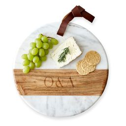 Wood and Marble Round Cheese Board   Mark and Graham