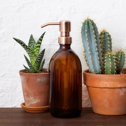 Amber Glass Soap Dispenser With Stainless Steel Pump (BPA-Free)   Etsy (CAD)