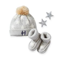 Cotton Cashmere Baby Hat & Bootie Set   Mark and Graham