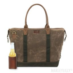 Personalized Waxed Canvas Weekender   Marleylilly