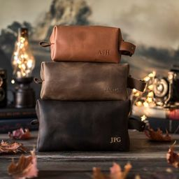Leather dopp kit, Personalized groomsmen gift, leather dopp kit, mens leather toiletry bag, mens ...   Etsy (US)