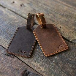 Italian Leather Luggage Tag, Personalized Luggage Tag, Leather Luggage Tag, Personalized Luggage ...   Etsy (US)