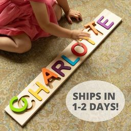 Personalized Name Puzzle - Fat Brain Toys - Ships in 1-2 Business Days - Wooden Name Puzzle - Cus...   Etsy (US)