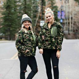 Hidden Comfort Olive Camo Sherpa Pullover   Apricot Lane Boutique