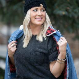Style Icon Plaid Contrast Denim Jacket   Apricot Lane Boutique