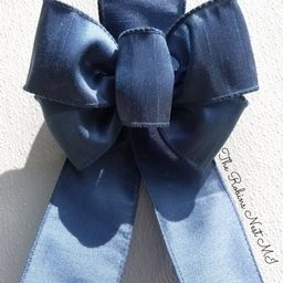 French Blue Bows, Oil Painting Bows, Smoke Blue Bow, Sign Bows, Wreath Hanger Bows, Monogram Bows...   Etsy (US)
