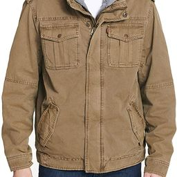 Levi's Men's Washed Cotton Military Jacket with Removable Hood (Standard and Big & Tall)   Amazon (US)