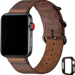 Vintage Leather Bands Compatible with Apple Watch Band 38mm 40mm 42mm 44mm,Genuine Leather Retro ...   Amazon (US)