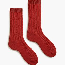 Spice Cable Crew Socks | Tuckernuck (US)