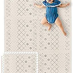 Yay Mats Stylish Extra Large Baby Play Mat. Soft, Thick, Non-Toxic Foam Covers 6 ft x 4 ft. Expan... | Amazon (US)