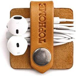 TOPHOME Cord Organizer Earbud Holder Earphones Headphones Winder Keeper Earbuds Case Storage Wrap...   Amazon (US)