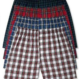 Hanes Men's 5-Pack Tartan Boxer with Inside Exposed Waistband   Amazon (US)