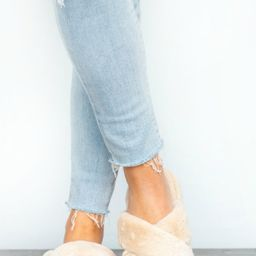 Goodnight Dreams Fuzzy Slippers- 2 colors   Apricot Lane Boutique