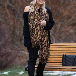 Time To Be Wild Leopard Scarf   Apricot Lane Boutique