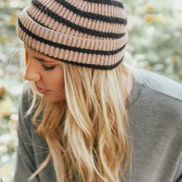 Winter Is Near Knitted Stripped Hat- 2 colors   Apricot Lane Boutique