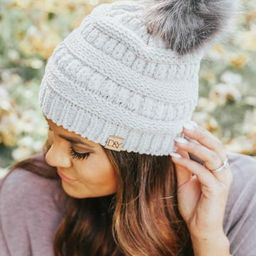 Snow Day Solid Chenille Knit Beanie-4 colors   Apricot Lane Boutique