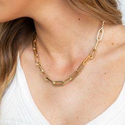 Someone Else Gold Chain Necklace   Apricot Lane Boutique