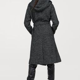 Calf-length, double-breasted coat in woven, wool-blend fabric with a lightly brushed finish. Larg... | H&M (US)
