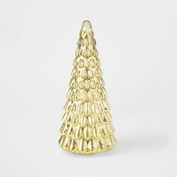 LIT Medium Mercury Glass Christmas Tree Decorative Figurine Gold - Wondershop™ | Target