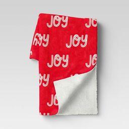 Holiday Joy Plush with Sherpa Reverse Throw Blanket Red - Wondershop™ | Target