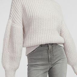 Chunky Balloon Sleeve Turtleneck Sweater | Express