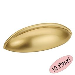 """Cosmas 1399GC Gold Champagne Cabinet Hardware Bin Cup Drawer Handle Pull - 2-1/2"""""""" Hole Centers - 10 