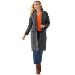 Scoop Women's Long Plaid Coat | Walmart (US)