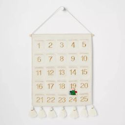 Fabric Christmas Countdown Calendar with Pockets - Opalhouse™   Target