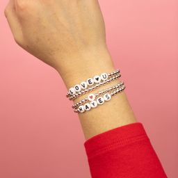 Personalized Initial Sterling Silver Dot Beaded Bracelet, Initials Bracelet   Etsy (US)