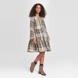 Women's Plaid Puff Long Sleeve Shirtdress - Knox Rose™   Target