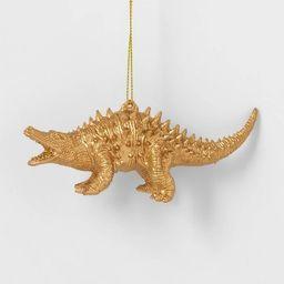 Gold Dinosaurs Christmas Tree Ornament - Wondershop™ | Target