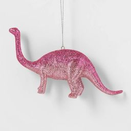 Glitter Brontosaurus Dinosaur Christmas Tree Ornament Pink - Wondershop™ | Target