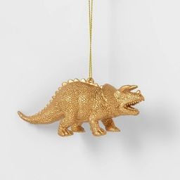 Gold Triceratops Dinosaurs Christmas Tree Ornament - Wondershop™ | Target