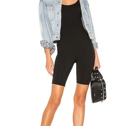 superdown Nadia Biker Short Romper in Black. - size M (also in XXS,XS,S,L,XL) | Revolve Clothing (Global)