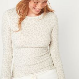 Printed Thermal-Knit Long-Sleeve Tee for Women | Old Navy (US)