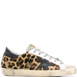 Superstar leopard-print sneakers   Farfetch (US)