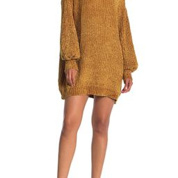Angie Chenille Balloon Sleeve Sweater Dress at Nordstrom Rack   Nordstrom Rack