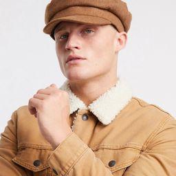 ASOS DESIGN mariner baker boy hat in camel melton-Tan   ASOS (Global)