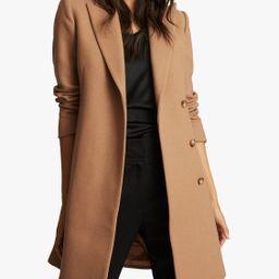 Reiss Evie Crombie Longline Wool Blend Coat   John Lewis (UK)