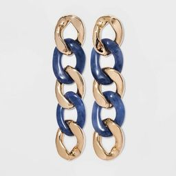 SUGARFIX by BaubleBar Two-Tone Linked Drop Earrings - Medium Blue   Target