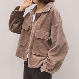 Corduroy Buttoned Jacket | YesStyle Global