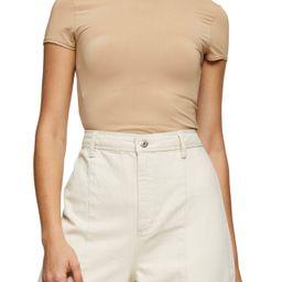 Women's Topshop Slinky T-Shirt, Size 6 US - Beige | Nordstrom